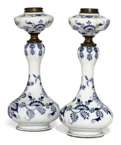 A PAIR OF BOHEMIAN OPAQUE GLAS