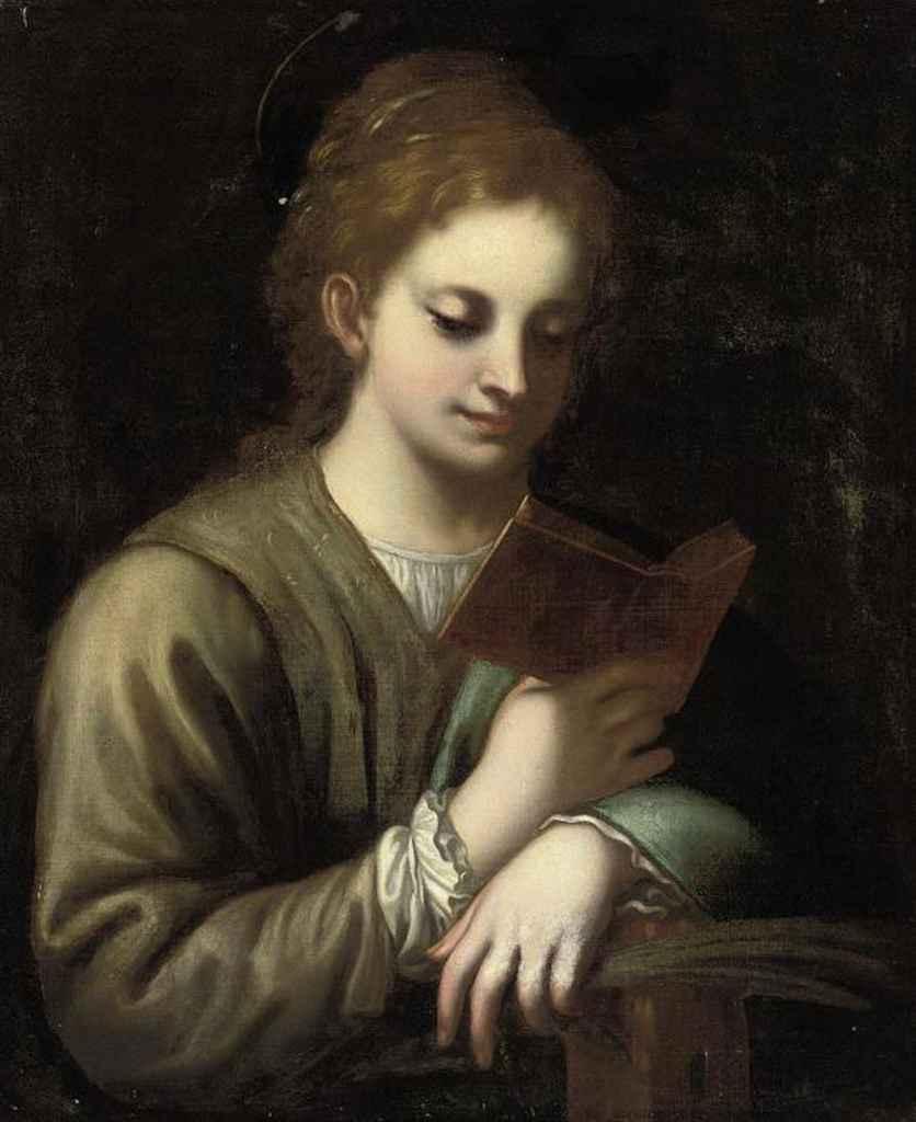 Saint Catherine reading
