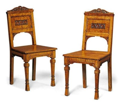 A PAIR OF VICTORIAN FIGURED OA