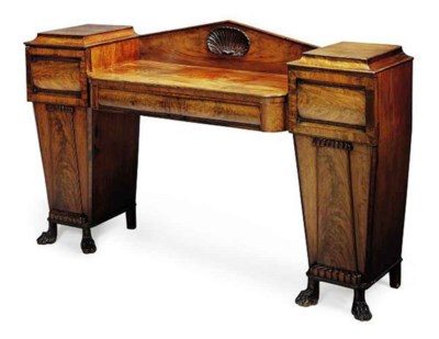 A LATE REGENCY MAHOGANY PEDEST