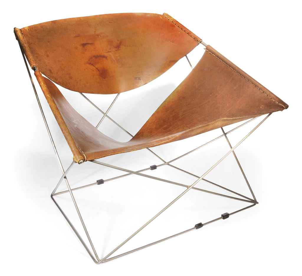 A PIERRE PAULIN 'BUTTERFLY' CHAIR