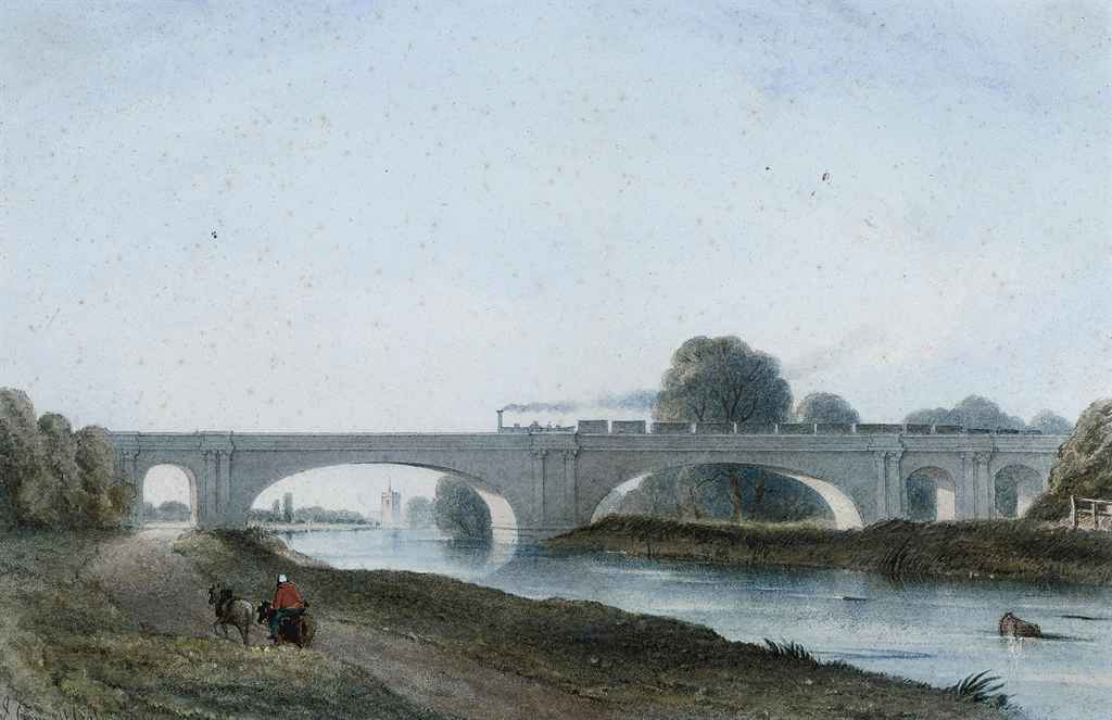 A train passing over Maidenhead Bridge
