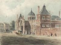 Montague House, the original building housing the British Museum, London