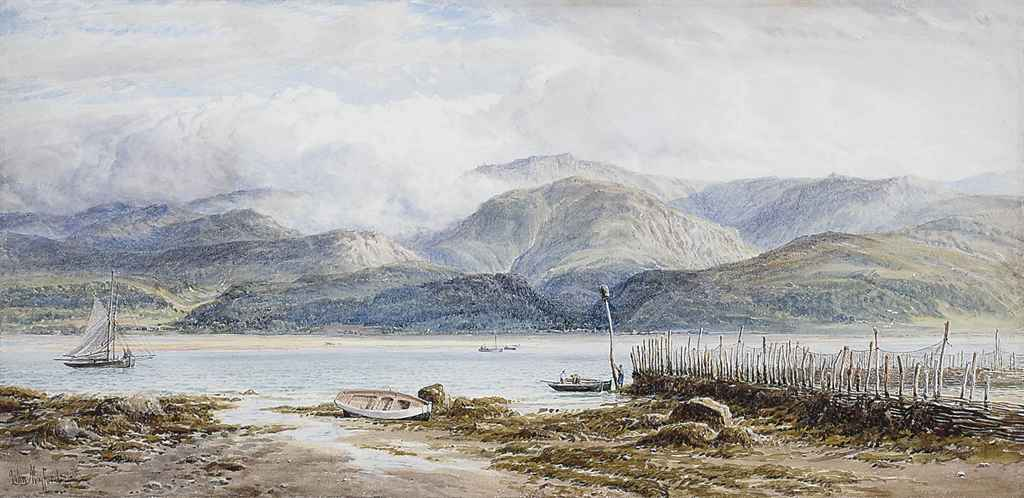 View of Beaumaris from Aber, Wales