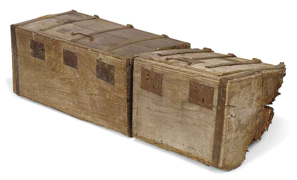 A HENRY VIII OAK DUG-OUT CHEST