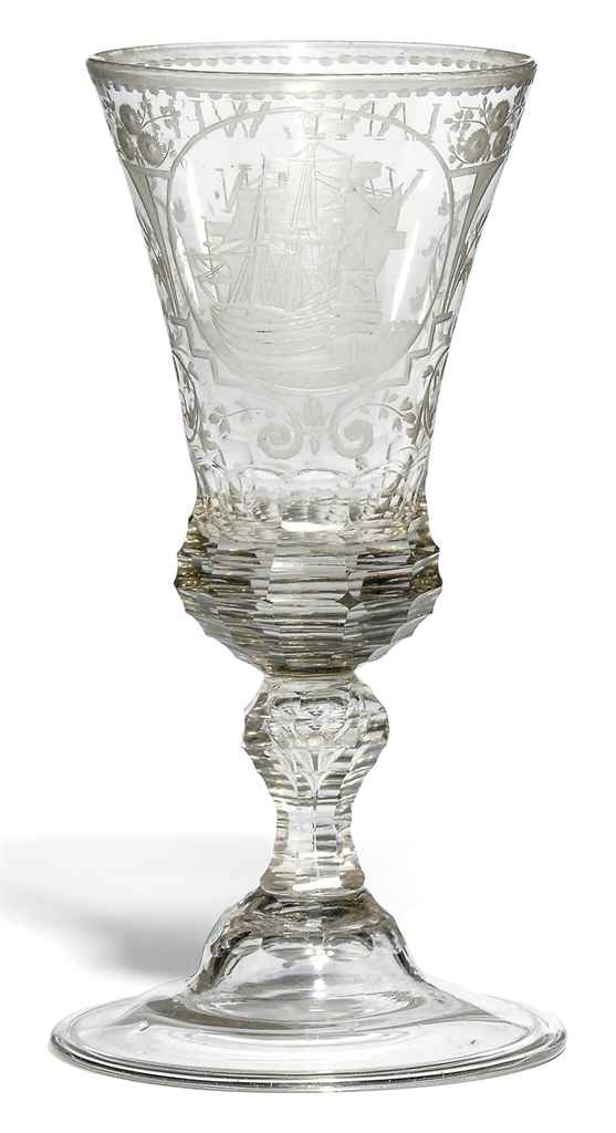 A GERMAN GLASS GOBLET FOR THE
