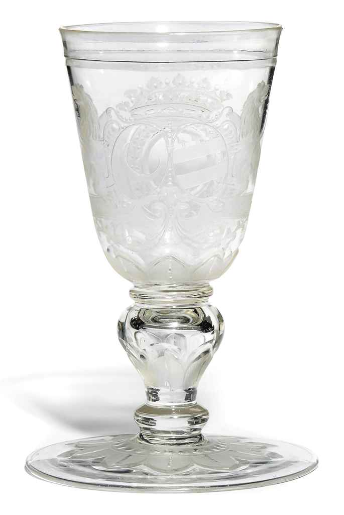A GERMAN ENGRAVED ARMORIAL GOB