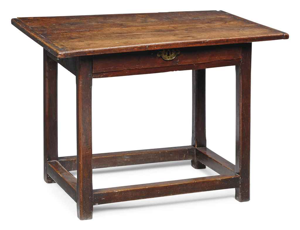 A FRENCH CHERRY SIDE TABLE