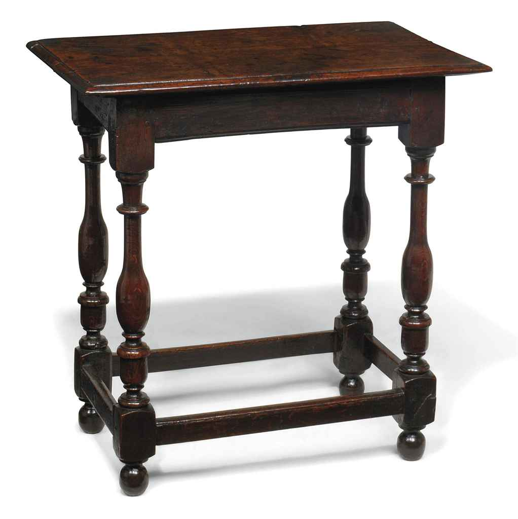 A GEORGE I OAK CENTRE TABLE