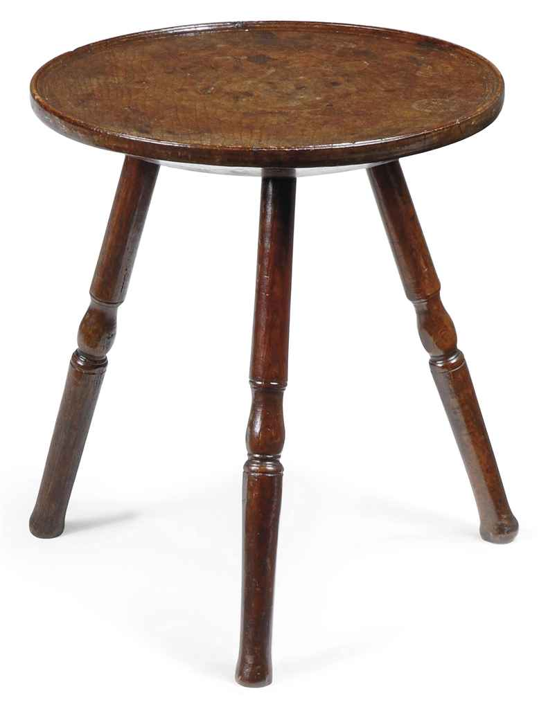 A GEORGE III OAK CRICKET TABLE