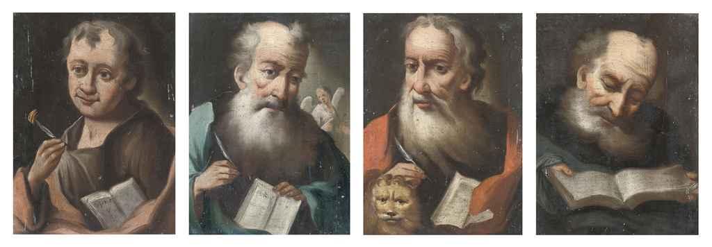 The Evangelists: Saint John, Saint Matthew, Saint Mark, Saint Luke