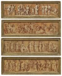Minerva visiting the Muses; Vulcan and Venus; Neptune and Amphitrite; A Sacrifice to Jupiter.