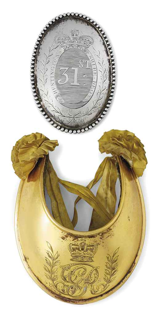A GEORGE III SILVER OFFICER'S