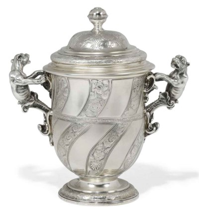 A GEORGE V SILVER CUP AND COVE