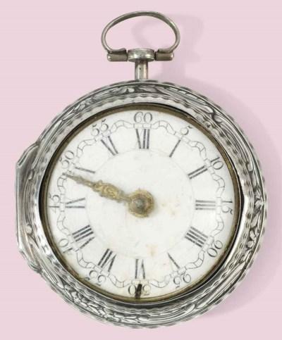 An 18th century silver pair ca