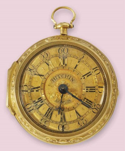 An 18th century gold pair case