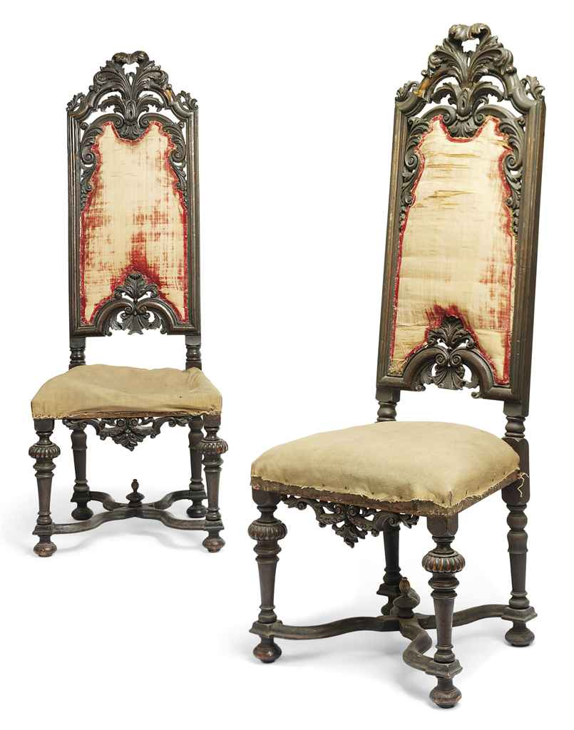 A PAIR OF WILLIAM III CARVED W