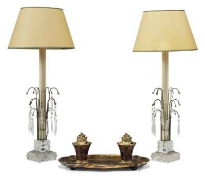 A LOUIS XV STYLE ORMOLU AND SI