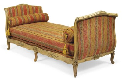A LOUIS XV STYLE CARVED AND 'L