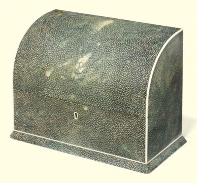 A SHAGREEN AND IVORY MOUNTED S