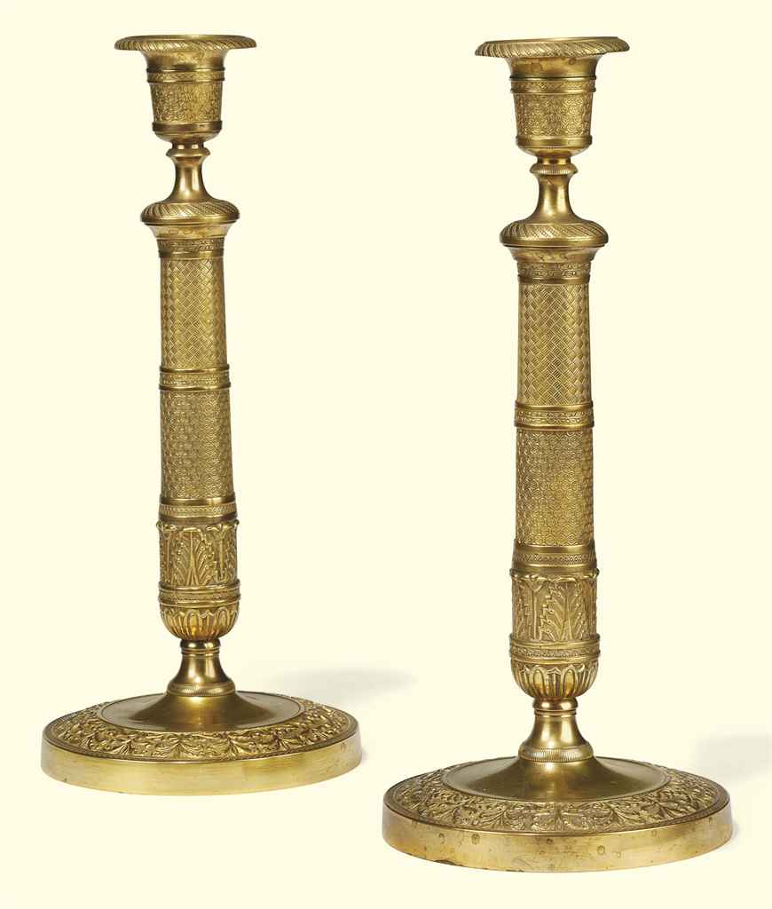 A PAIR OF CHARLES X ORMOLU CAN