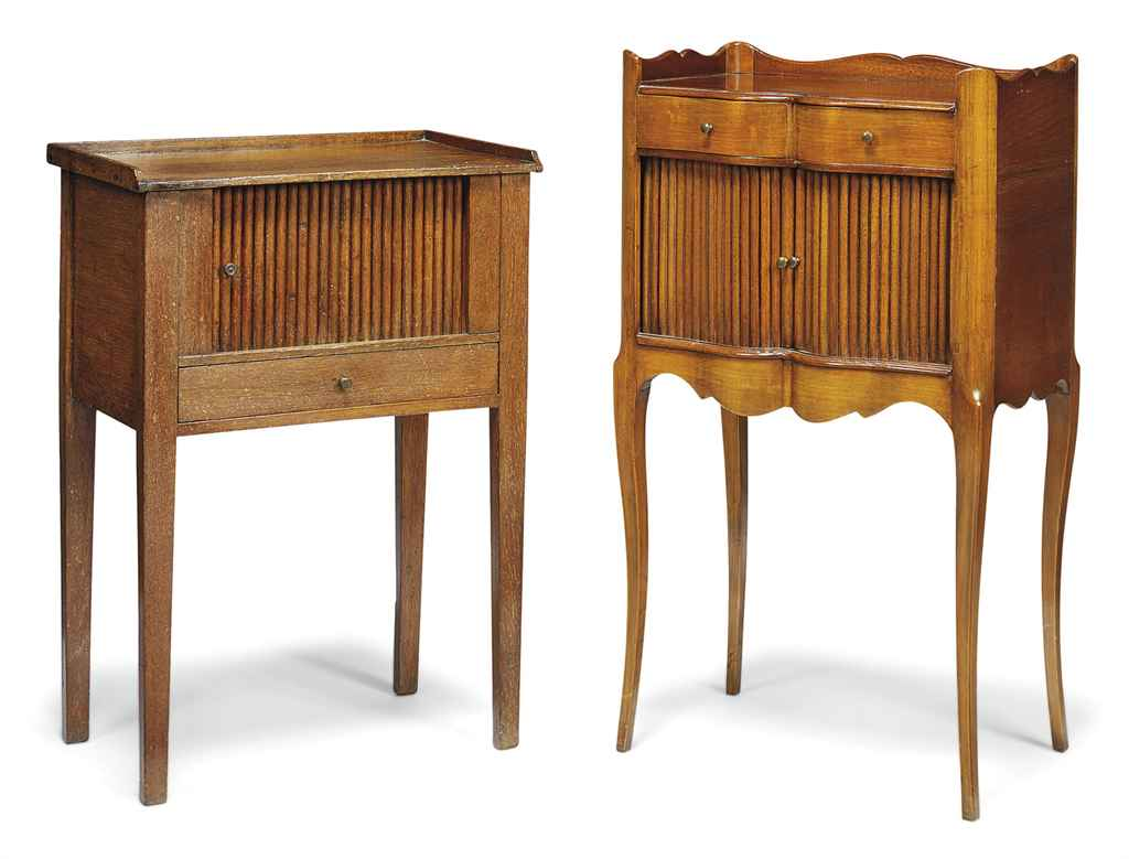A FRENCH MAHOGANY AND FRUITWOO