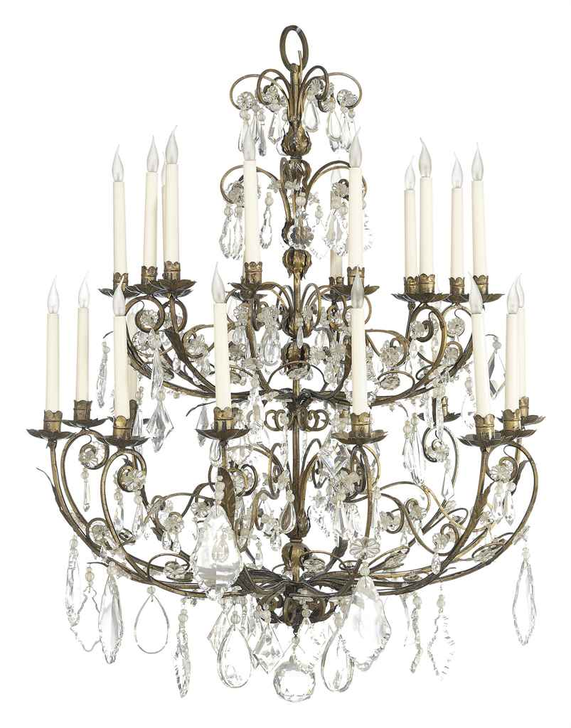 A FRENCH GILT-WROUGHT IRON AND