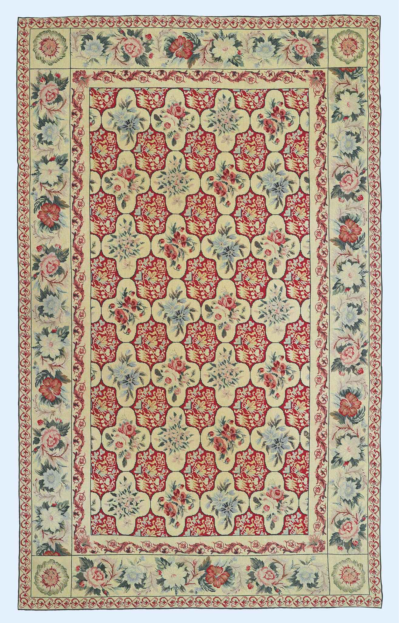 A CHINESE NEEDLEPOINT CARPET