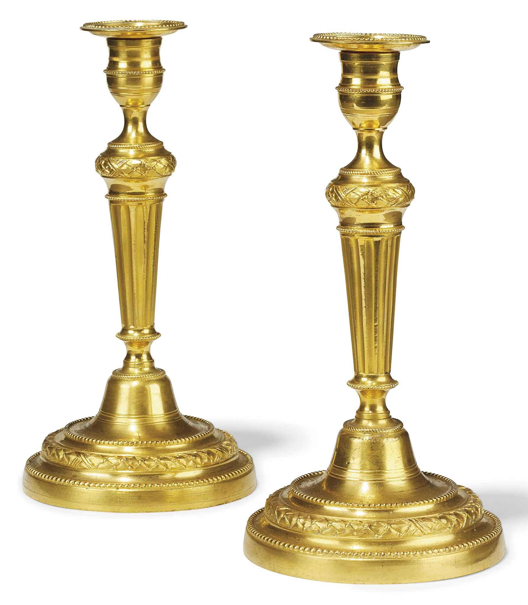 A PAIR LOUIS XVI STYLE ORMOLU
