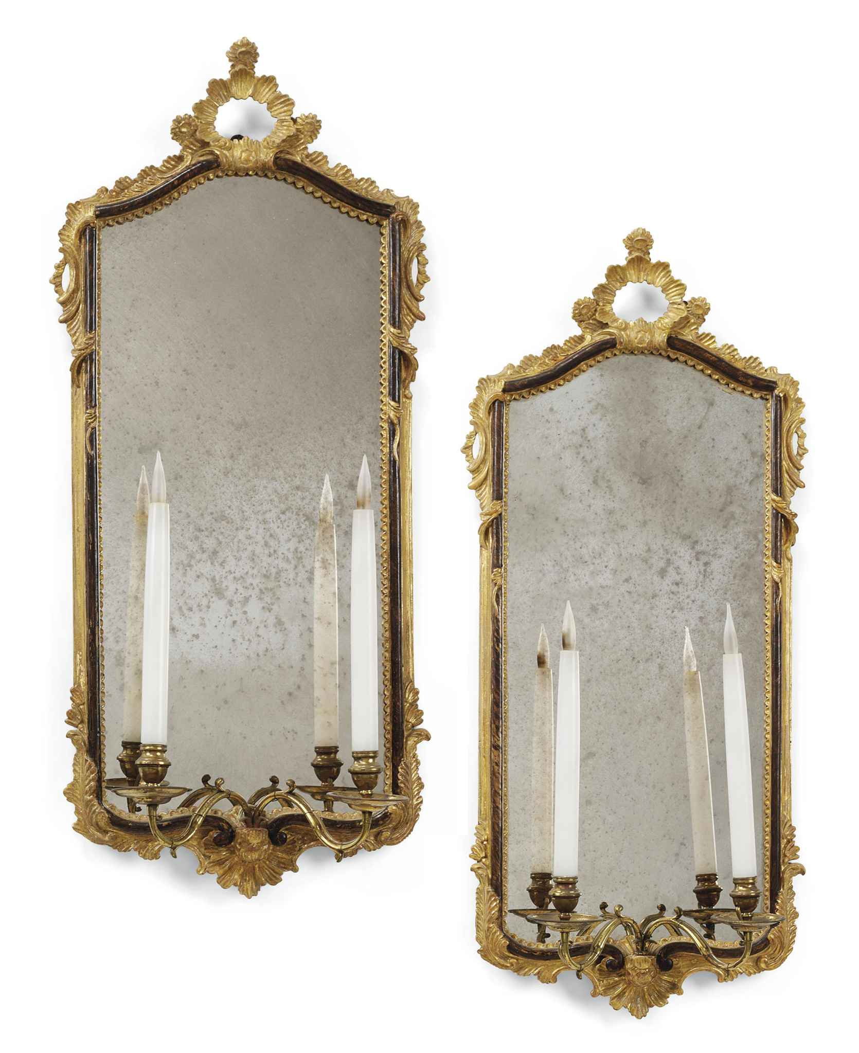 A PAIR OF GILTWOOD AND BROWN P