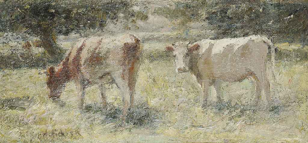 Cattle grazing in a meadow