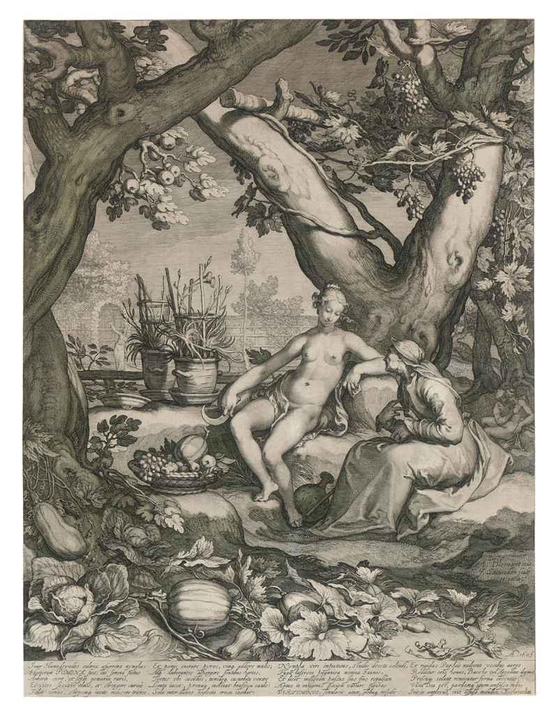 Vertumnus and Pomona (Bartsch 27; Hollstein 87)