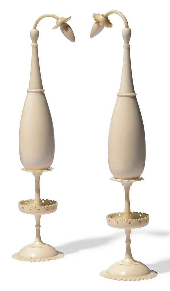 A MATCHED PAIR OF IVORY ROSEWA