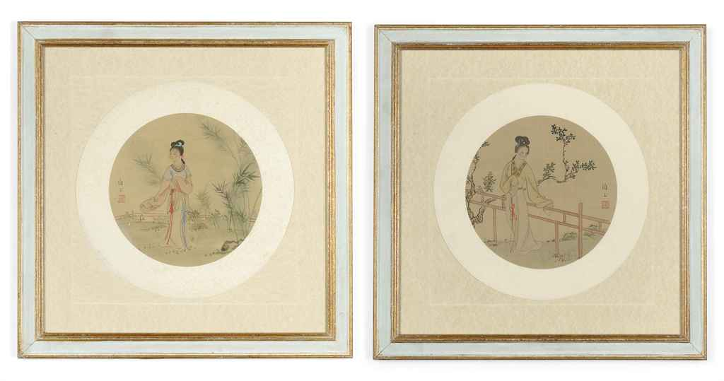 TEN CHINESE PAINTINGS ON SILK