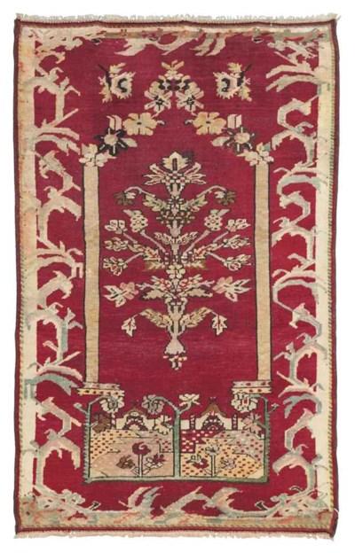 Antique Ghiordes prayer rug &