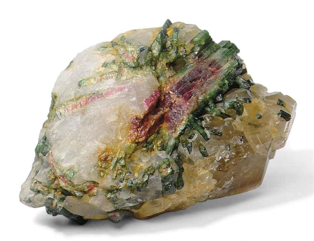Tourmaline crystals in quartz
