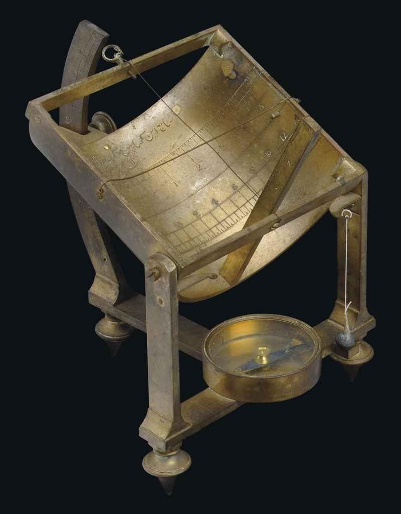 A Persian-inscribed sundial