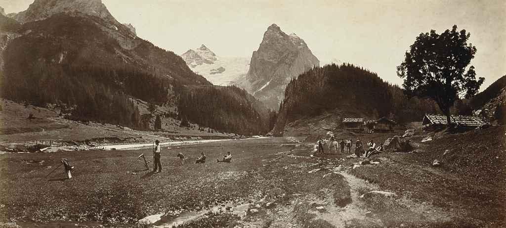 Vues Panoramiques: 'Lac de Wallenstadt'; 'Vallée de Chamonix'; 'Chapelle Notre Dame a Feé Vallée de Saas'; 'Vue de Interlaken'; 'Vue de la Schienigiplatte'; 'Vue de Wengen pres Lauterbrunnen'; 'Vallee de Gastern Suisse'; 'Le Stanbach'; 'Kandersteg'; 'Fluelen'; 'Glacier de ..osenlain'; and 'Thousis'