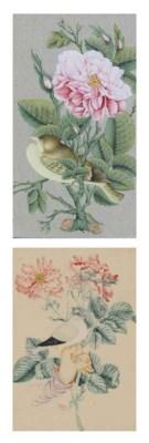 FIVE QAJAR STUDIES OF FLOWERS