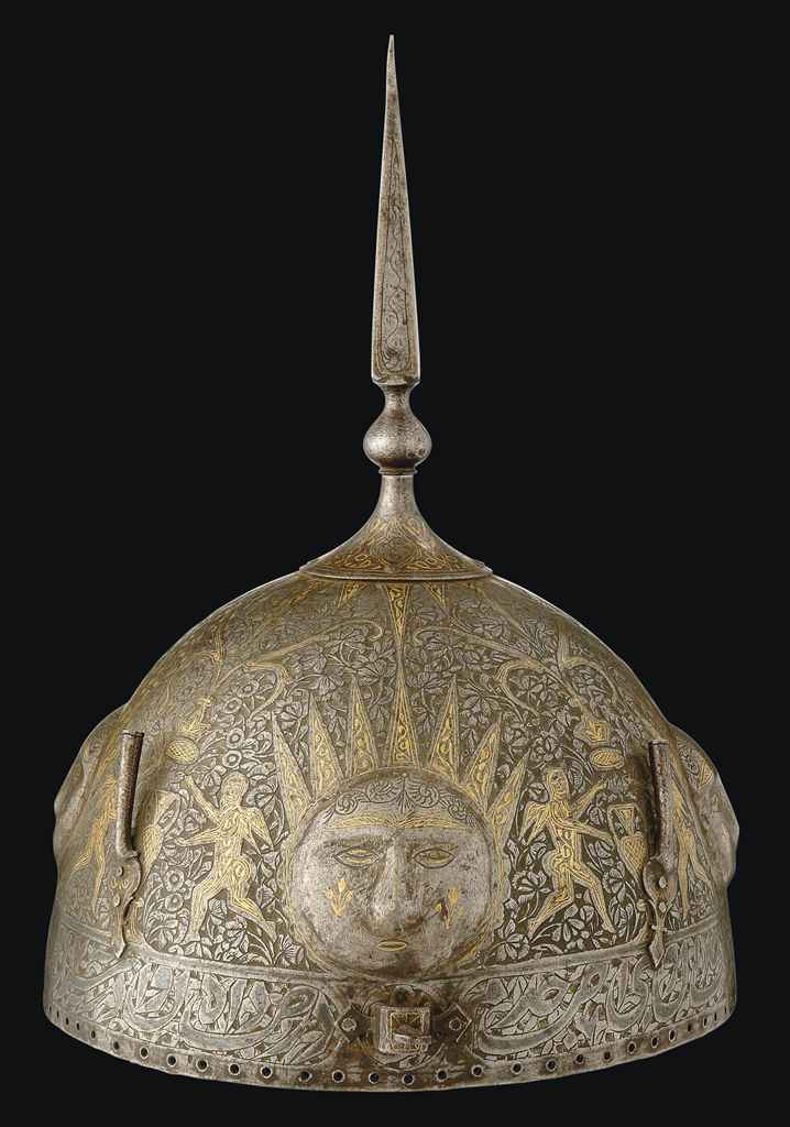 A QAJAR GOLD AND SILVER-DAMASC