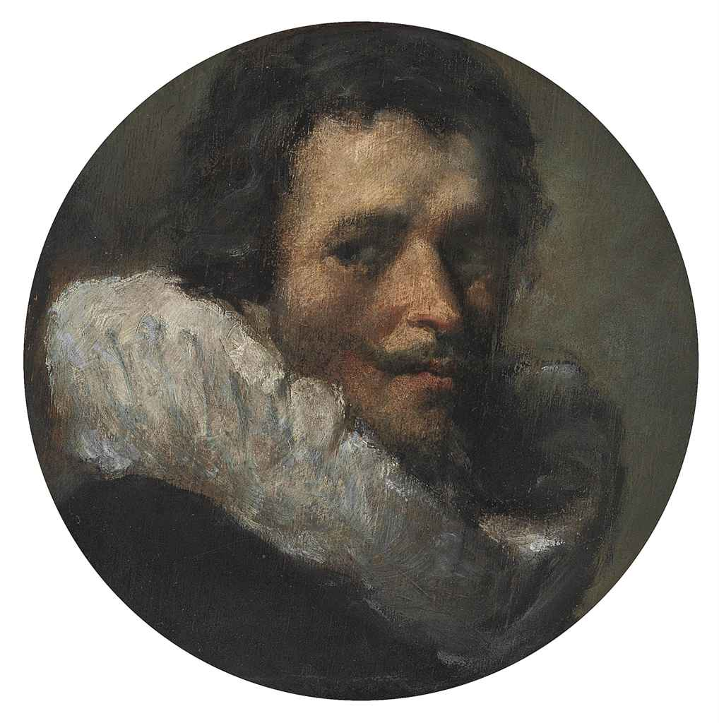 Portrait of a gentleman, bust-length, in a black coat and white ruff