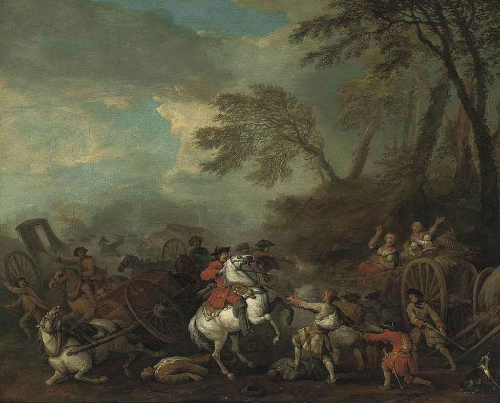 An ambush in a wooded landscape