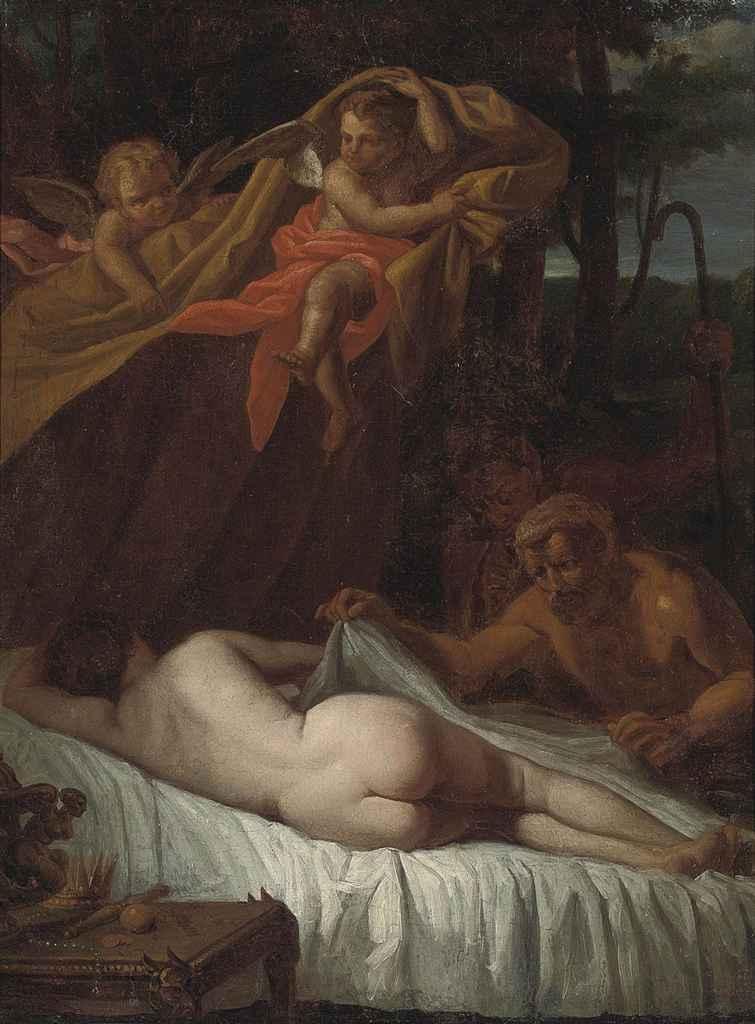 Venus surprised by satyrs
