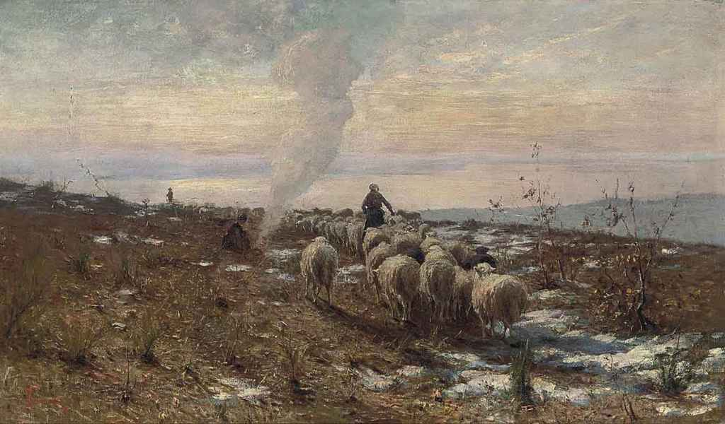 Shepherds in the Italian hills