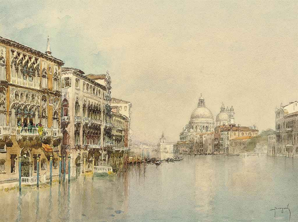 On the Grand Canal before Santa Maria della Salute, Venice