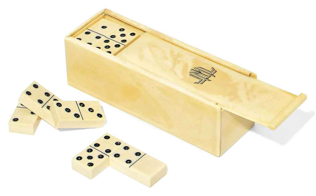A FRENCH IVORY DOMINO BOX