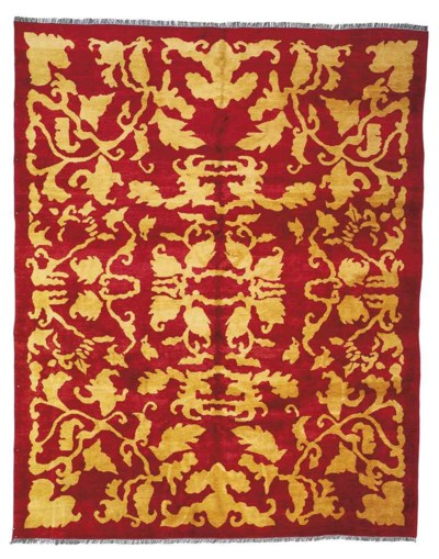 An unusual carpet of Arts & Cr
