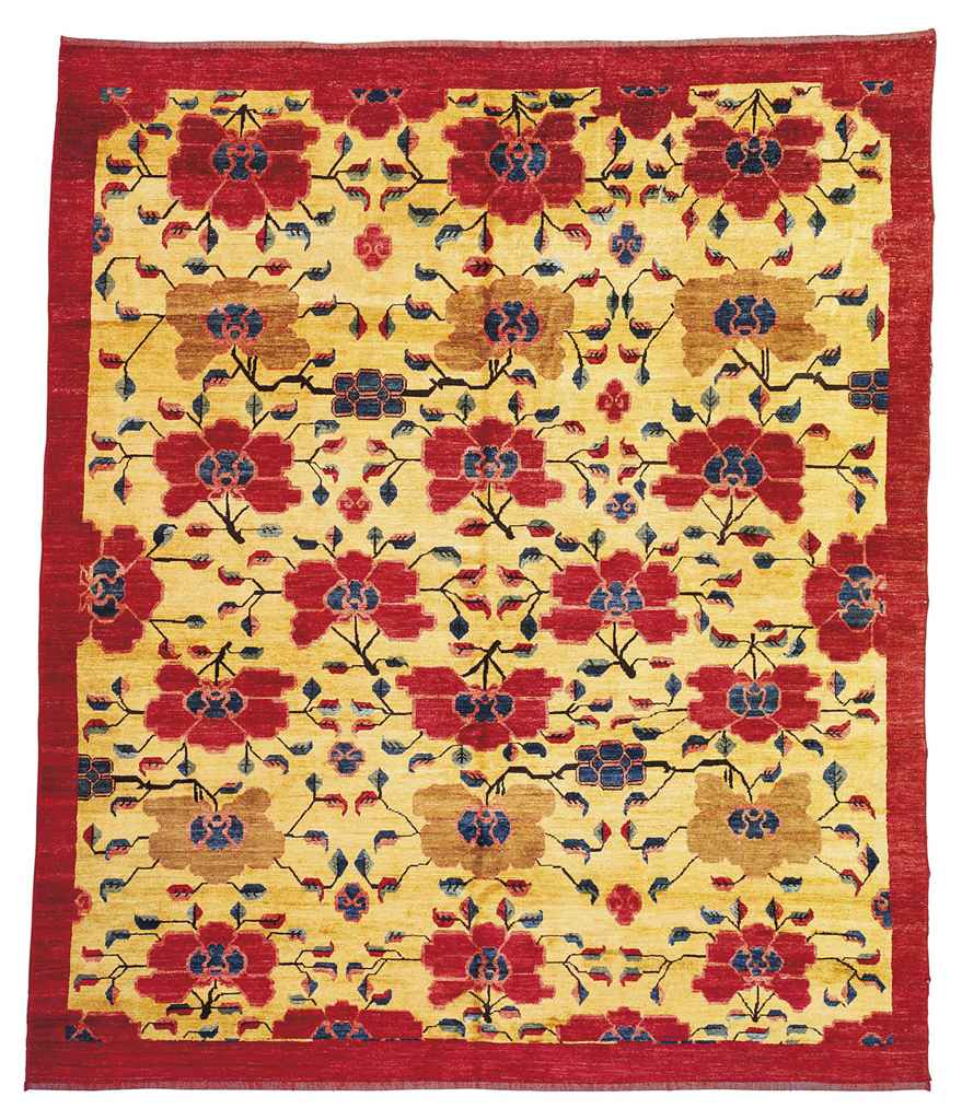 An unusual Kurdish carpet