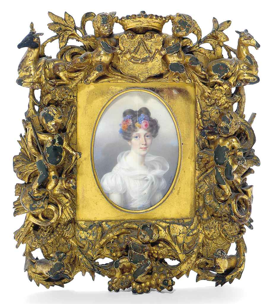 A FRENCH PAINTED MINIATURE OF