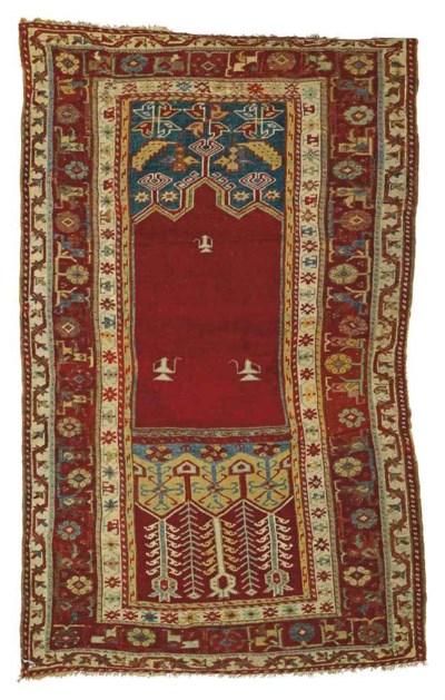An antique Ladik prayeer rug &
